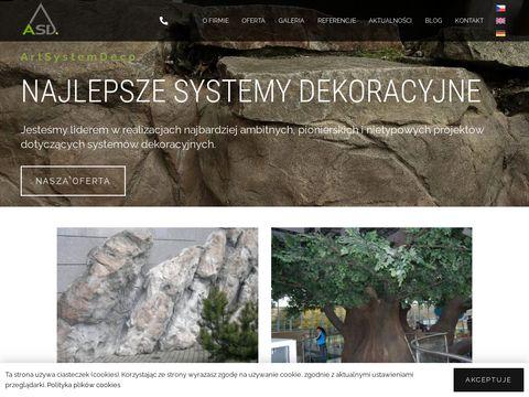 Systemy dekoracyjne, sztuczne ska艂y - Art System Deco