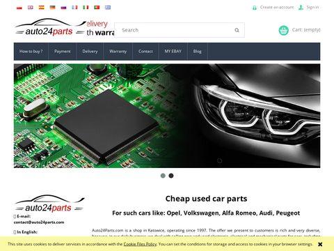 Używane części samochodowe Auto24Parts.com