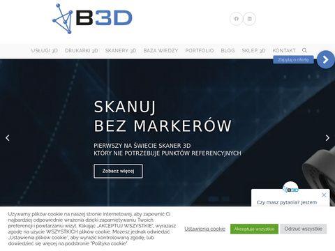 Przemysłowe skanery 3d - b3d.com.pl