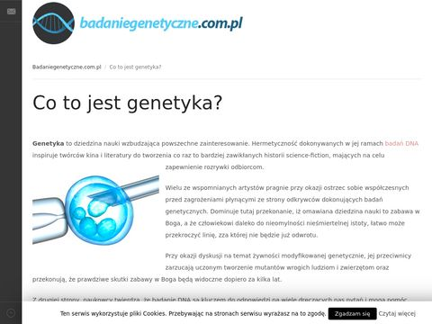 Badanie Genetyczne