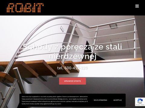ROBIT - balustrady nierdzewne, barierki ze stali nierdzewnej