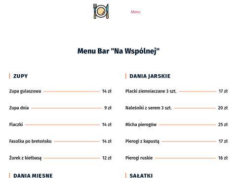 Bar na Wsp贸lnej - Domowe obiady - Rzesz贸w