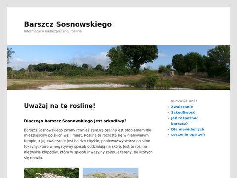 Strona informacyjna o barszczu Sosnowskiego