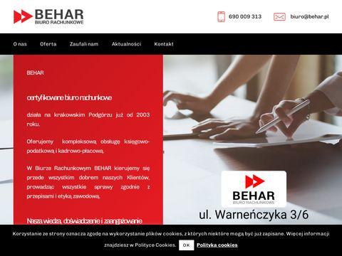 Biuro rachunkowe Behar w mie艣cie Krak贸w