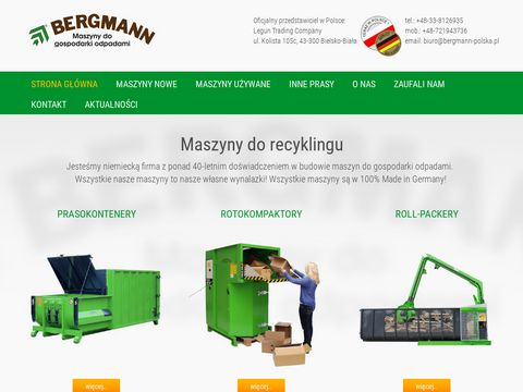 Prasokontenery, Roll-Packery i Rotokompaktory firmy Bergmann!