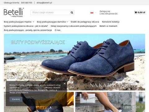Betelli buty podwyższające dla mężczyzn.