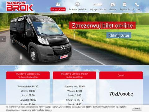 Białystok Modlin - Transport BROK