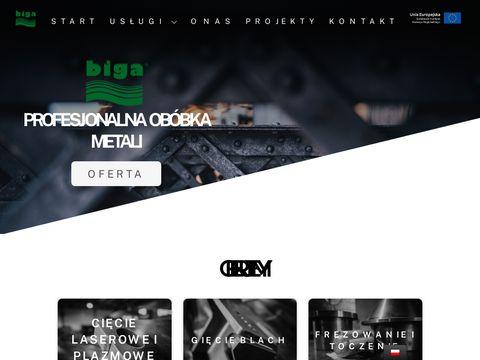 Cięcie laserem oraz gięcie blach - firma BIGA-STAL Kraków