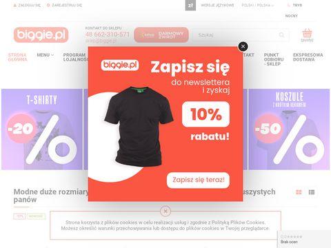 Biggie.pl - odzież męska, duże rozmiary od 2XL do 10 XL