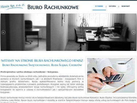 Biuro rachunkowe Sabrina Henisz - 艢wi臋toch艂owice, Chorz贸w, Katowice