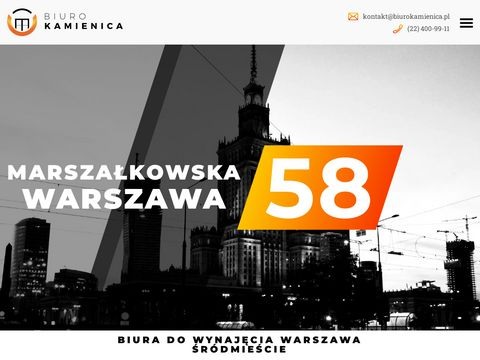 Biura wirtualne warszawa centrum - biurokamienica.pl