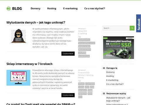 Strony internetowe - blog.domena.pl