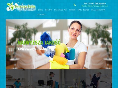 Firma sprzątająca Poznań - serwis sprzątający   Błyszcząca Bańka