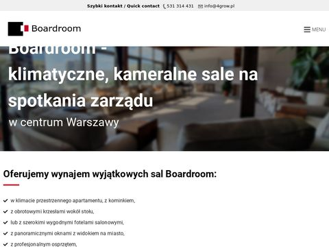 Boardroom Warszawa Centrum - klimatyczne sale spotka艅 dla zarz膮du
