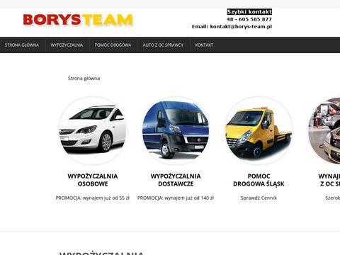 Pomoc drogowa Tychy, Sosnowiec, Chorzów | Borys-Team