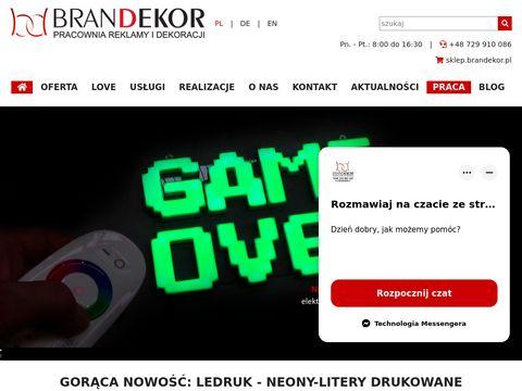 BRANDEKOR Pracownia reklamy i dekoracji