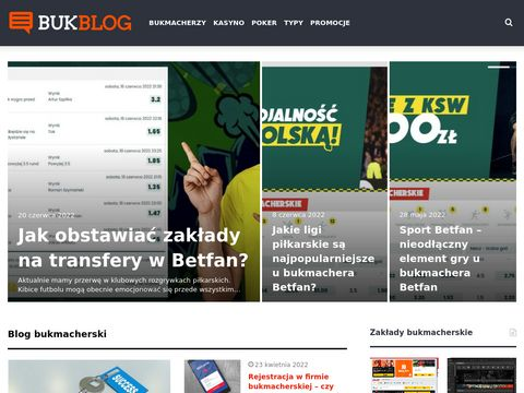 Blog internetowy o legalnych firmach bukmacherskich