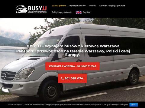 BusyJJ - wynajem bus贸w Warszawa