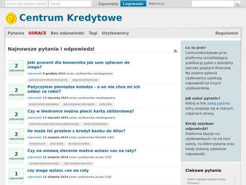 Informacje bankowe - Centrum Kredytowe.pl