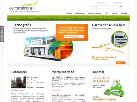 Termowizja - Certenergia.pl