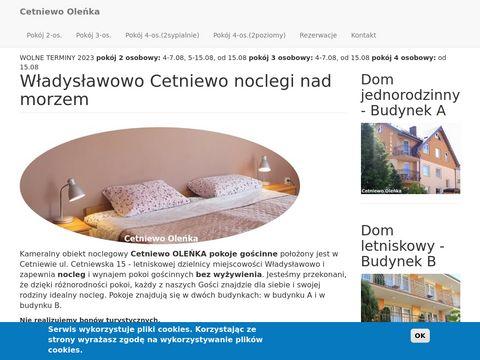 Władysławowo Cetniewo Oleńka noclegi nad morzem