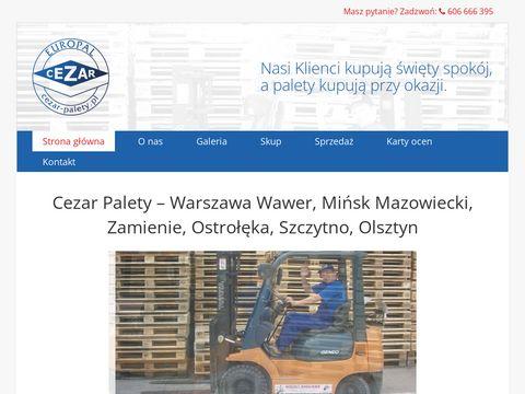 Sprzeda偶 palet Warszawa