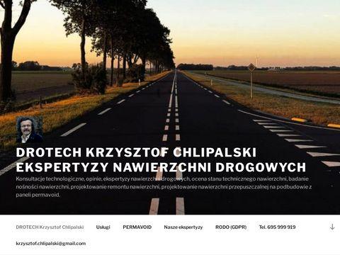 DROTECH - dbajmy o nasze drogi - Krzysztof Chlipalski - ekspertyzy nawierzchni drogowych