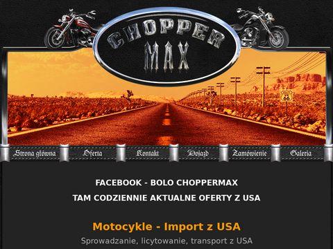 Motory z USA - choppermax.pl