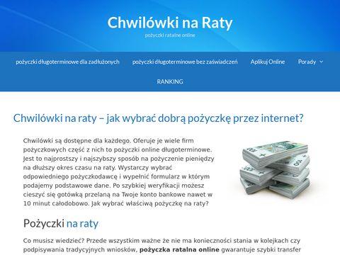 Chwilówki pożyczki ratalne online