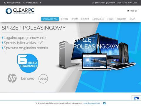 Naprawa laptopów Białystok - Clear PC serwis komputerowy