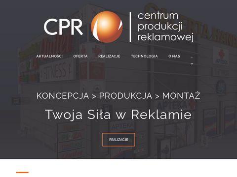 Druk wielkoformatowy, identyfikacja wizualna CPR.PL