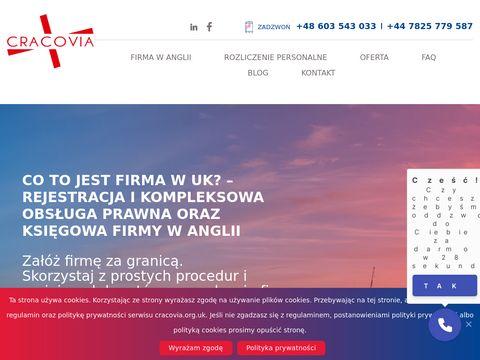 Rejestracja firmy w UK - Cracovia LTD