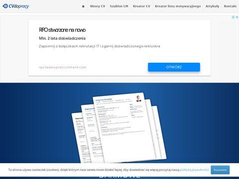 CVdopracy.pl - Darmowy kreator CV, bezpłatne wzory CV, porady list motywacyjny oraz curriculum vitae