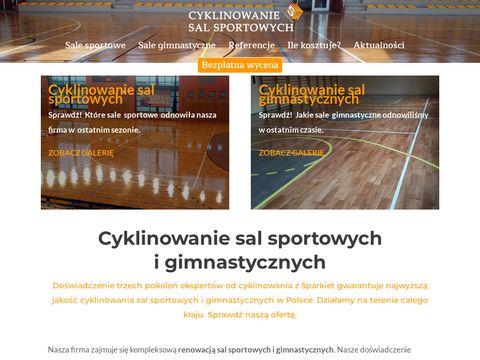 Cyklinowanie sal sportowych - cyklinowaniesalsportowych.pl