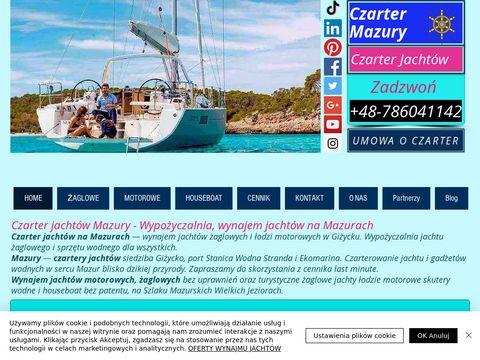 Czarter mazury - czarter jachtów mazury - wynajem jachtów - czarter jachtu
