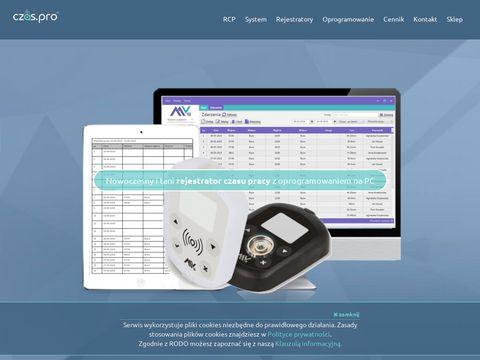 RCP czas.pro - rejestracja czasu pracy online
