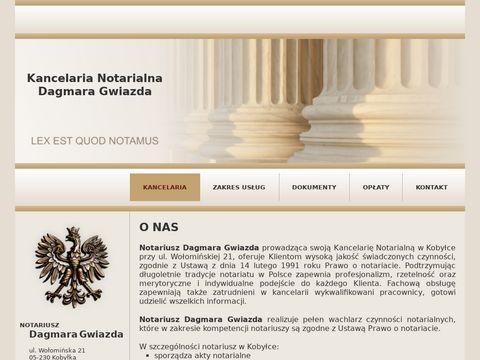 Dagmaragwiazda.notariusz.pl akt notarialny