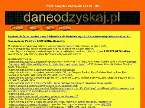 Odzyskiwanie danych daneODZYSKAJ.pl