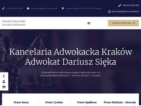 Adwokat Krak贸w - Prawo Karne, Cywilne, Rozwody, Odszkodowania