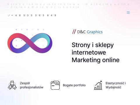 Projektowanie profesjonalnych stron internetowych - D&C Graphics