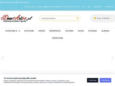 DecoArt24.pl - Wyposażenie wnętrz, dekoracje do domu i ogrodu.