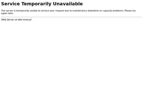 Dek-mont.pl usługi dekarskie