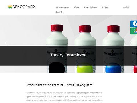Dekografix - fotoceramika, druk kalki do ceramiki, szk墓聜a, emalii, tonery ceramiczne.