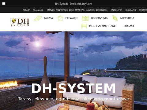 Deska kompozytowa, deska elewacyjna, deski tarasowe -DH System