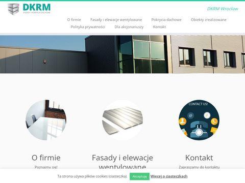 Pokrycia dachowe oraz fasady DKRM
