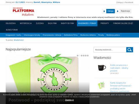 Portal biznesowy Platforma dla firm