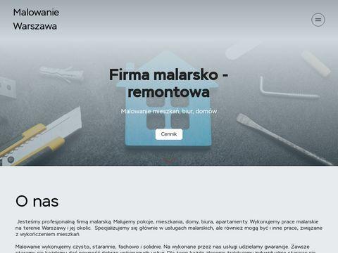 Usługi malarskie w Warszawie, malowanie mieszkań