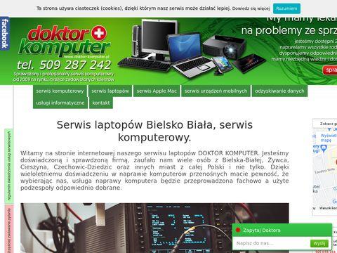 DOKTOR KOMPUTER 24h - Serwis laptopów Bielsko, naprawa laptopa Bielsko-Biała, pogotowie komputerowe.