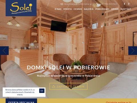 Drewniane domki letniskowe w Pobierowie