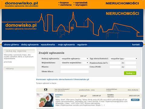 Bezpłatne ogłoszenia nieruchomości - Domowisko.pl